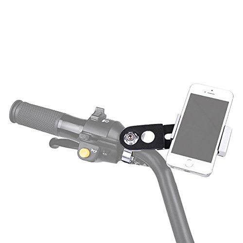 Brand New Motorcycle Silver Handlebar Black Holder 7/8'' or 1'' Fit Cell Phone PDA GPS