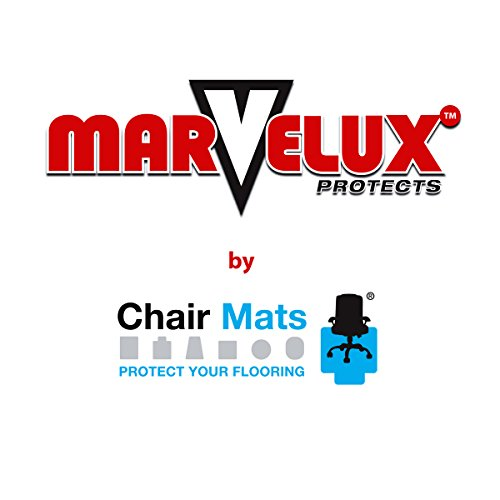 Marvelux 47'' x 53'' Polycarbonate (PC) Lipped Chair Mat for Low, Standard and Medium Pile Carpets | Transparent Carpet Protector | Multiple Sizes by Marvelux (Image #7)