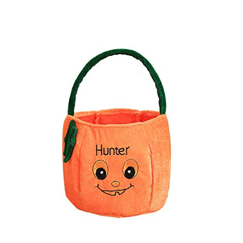 JINRU Halloween Bags for Trick Or Treat, Halloween Party Supplies Favor Bags Drawstring Gift Backpacks for Kids Boys and Girls,A -