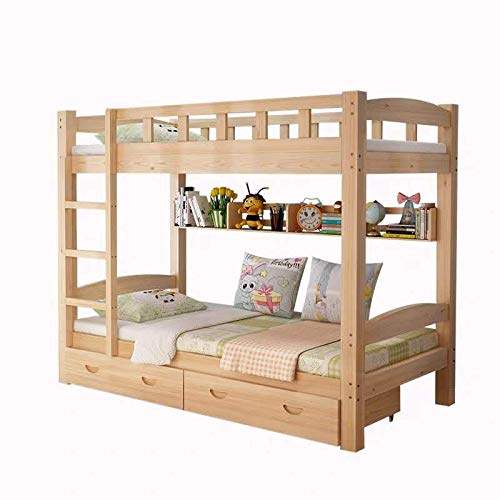 - Y-H Bunk Bed Rustic Farmhouse Bunk Bed - Queen/Queen/Traditional Bunk Bed/Wood Reclaimed Bunk Bed/Modern/Urban/Cottage Bunk Bed(Bed only)