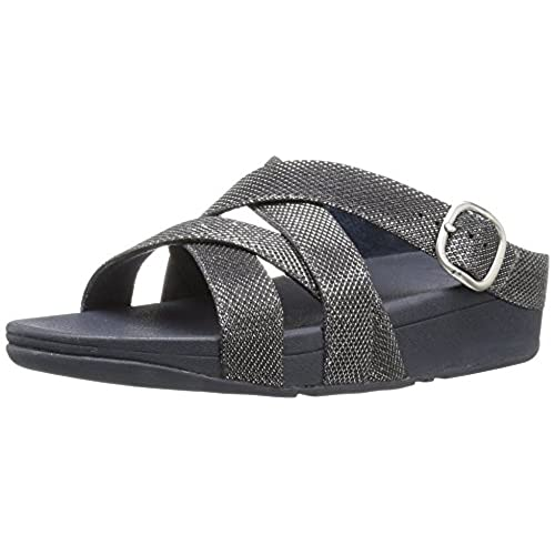 602ac75ad1b5c1 50%OFF FitFlop Women s the Skinny Sparkle Criss-Cross Slide Flip Flop