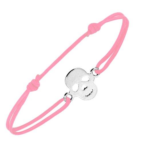 Tous mes bijoux - BRXCAR00902 - Bracelet Femme - Tête de Mort - Argent 925/1000 0.8 gr - Rose