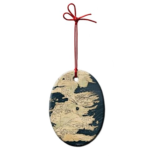 Game of Thrones Map Personalized Oval Porcelain Ornament Christmas Ceramic holiday decore Gift