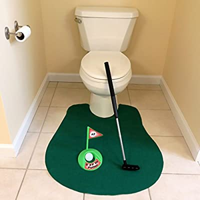 Evelots Toilet/Bathroom Golf Putting Game/Practice-Whole Family Gift-6 Piece Set: Toys & Games