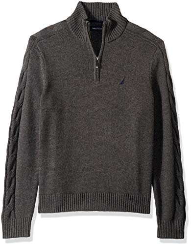 Cable Half Zip Sweater - 1
