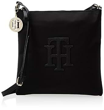 Tommy Hilfiger Trapunto Logo Medium Cross Body Bag,Black,One Size