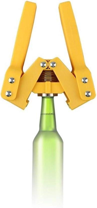AZLMJXH Botella superiores de la calidad Capper Manual Cápsulas Capsuladores color amarillo reutilizable Cerveza Corona de manillas cerveza nivelación de la máquina for la elaboración de cerveza caser