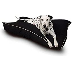 Majestic Super Value Pet Bed Pillows Durable Fabric Machine Washable Dog Bed (Black)