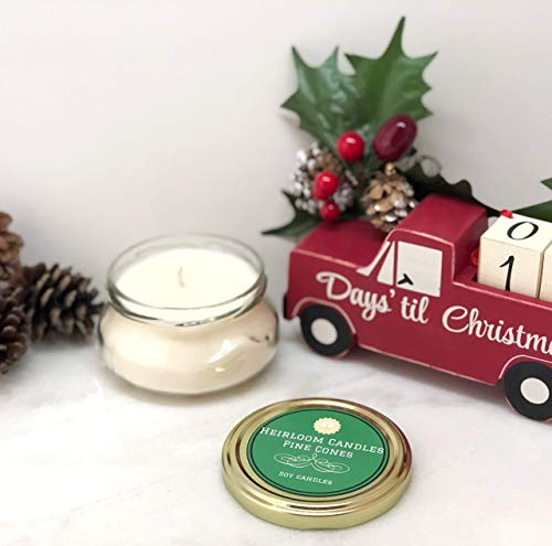 Cone Heirloom - Pine Cone Scented Soy Candle - Handmade Holiday Candle, 6oz