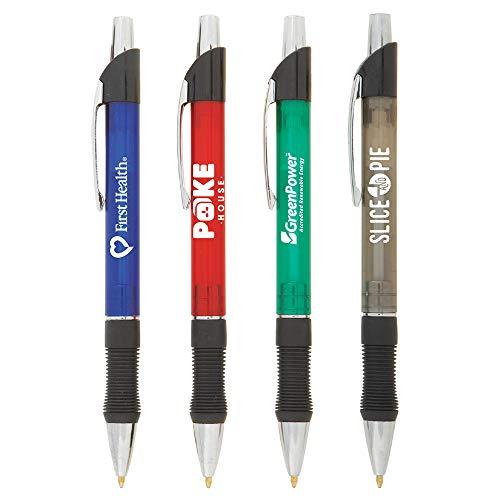 (Custom Pens - Stylex Translucent Pen - $0.99/pc, Qty 250, No Setup Cost, Personalize With Logo PromoStadiumTM)