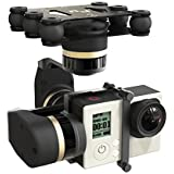 Feiyu Tech Mini 3D Full Metal 3 Axis Brushless Gimbal with 6 Anti Vibration Rubber Bolt for Gopro 3+ 4 DJI Phantom 2