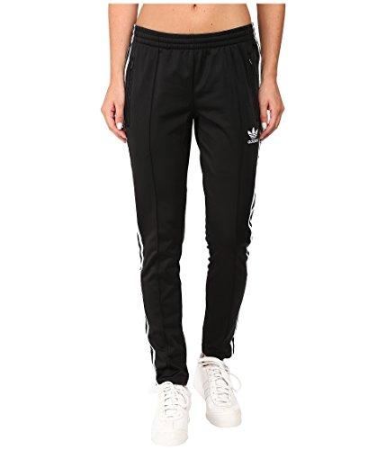 adidas Originals Women's Bottom's Superstar Track Pants, Black/White, Medium