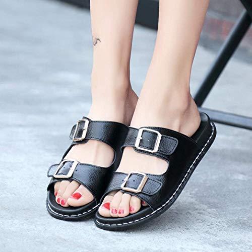 FerméscoloréNoir8 8Confortables Qiusa Air Gladiator Roman De Chaussures À Pantshoes FemmesTaille 3 Plein Sequins Brillants Sandales UkNoir Pour 5R3jL4qA