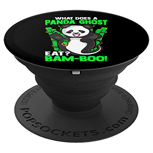 Funny Halloween Joke Panda Bear Ghost Gift - PopSockets Grip and Stand for Phones and Tablets