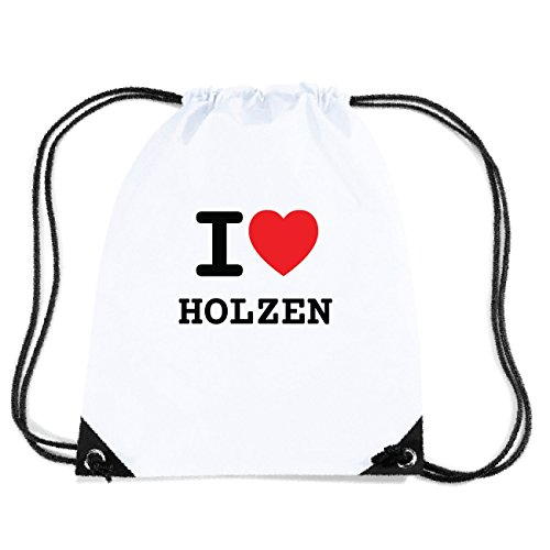 JOllify HOLZEN Turnbeutel Tasche GYM466 Design: I love - Ich liebe