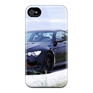 Iphone 4/4s Cases Covers - Slim Fit Tpu Protector Shock Absorbent Cases (bmw Black Cars Vehicles)