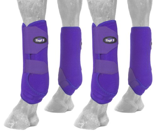 Tough 1 Extreme Vented Sport Boots Set, Purple, Medium
