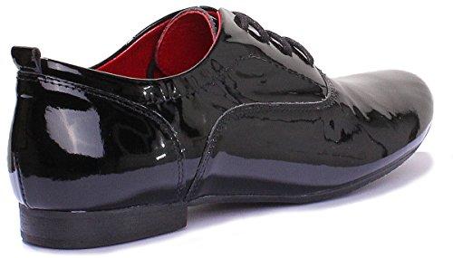 Justin Reece - 5200 mujer Negro - Black Patent N12