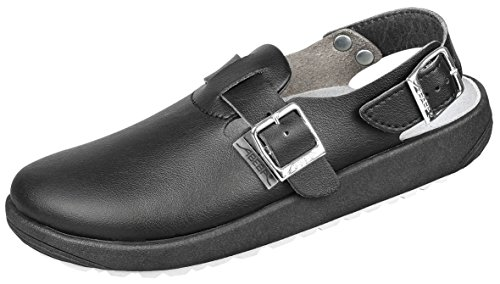 Abeba 970119 rubber - Clog schwarz OB SRC Berufsschuhe 44 Schwarz
