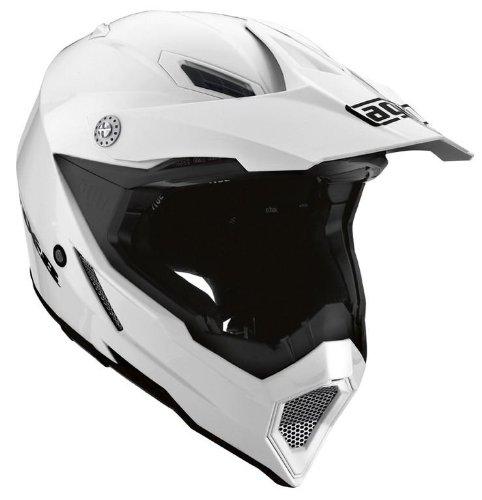AGV AX-8 EVO Solid Helmet , Size: Md, Primary Color: White, Distinct Name: White, Helmet Type: Offroad Helmets, Helmet Category: Offroad, Gender: Mens/Unisex 7511O4C0001007 (Agv Helmet Sizes)