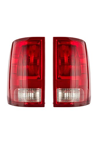 (Dependable Direct Pair of Tail Lights for 2009-2017 Dodge Ram 1500 and 2010-2017 Dodge RAM 2500, 3500 CH2818124 CH2819124)