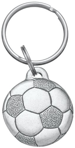 (DANFORTH - Soccer Ball - Pewter Keyring - Fob Measures 1 1/4 Inches - Made in The USA)