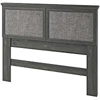 Altra Stone River Full/Queen Headboard with Fabric Inserts, Rodeo Oak
