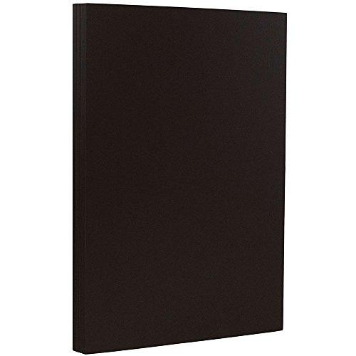 JAM PAPER Legal Matte 28lb Paper - 8.5 x 14 - Black Base - 50 -