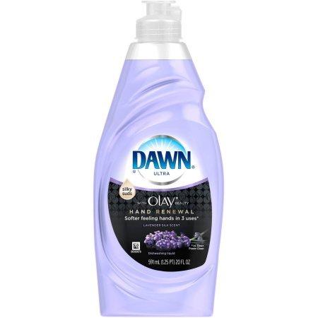 Dawn Plus Hand Renewal Lavender Silk Dishwashing Liquid, 20 fl oz (Plus Dishwashing Liquid)