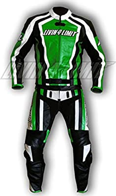 4LIMIT Sports 200100000604 Traje para Moto de Cuero, Verde ...