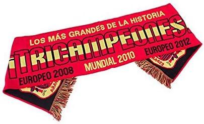 Eurowebb pañuelo en los colores de España 3 veces campeones – fútbol bufanda: Amazon.es: Electrónica