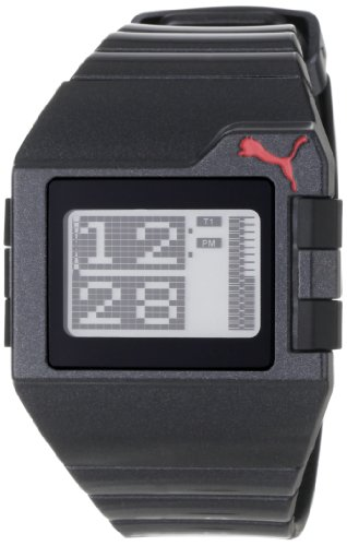 PUMA Men's PU910861005 Jet  Sleek Metallic Black Digital Watch
