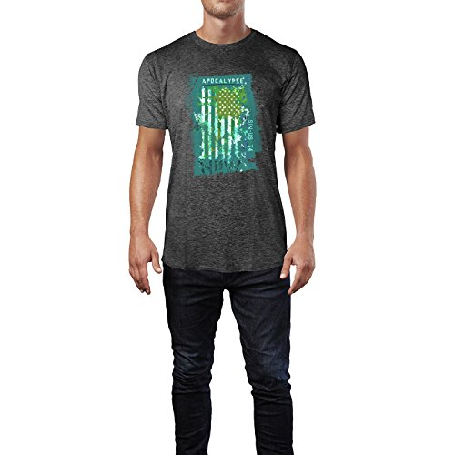 SINUS ART® USA Flagge Apocalypse Now Herren T-Shirts in dunkelgrau Fun Shirt mit tollen Aufdruck