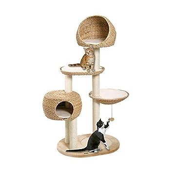 f94f4a79c91f96 Karlie Deluxe Arbre à chat Banana Leaf 3 Paradise, chat, arbre à chat