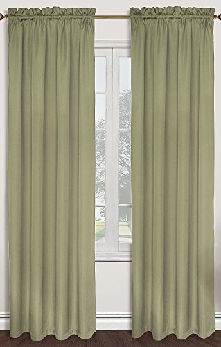 United Curtain Sterling Woven Window Curtain Panel, 40 by 63-Inch, Sage ()