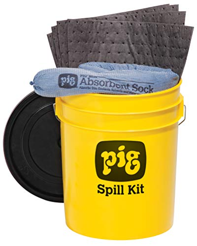 New Pig Corporation Spill Kit in 5-Gallon High-Visibility Container - PM50244, Yellow