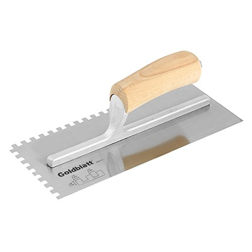 Goldblatt Tool Company G02372 1/4-Inch Square Notch Carbon Steel (Notch Trowel)