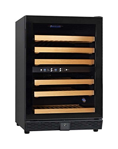 Omcan 37493 Dual Zone Vinovero 45 Bottle Dual Zone Wine Cellar
