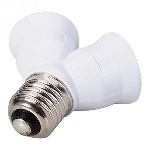 (Bedroom Sets - E27 To 2 Light Bulb Lamp Socket Base Adapter Converter Splitter Holder Lighting - African Dark Toddler Black Wood Headboard Bunk Dresser Ashley Gray Furniture Protective Pink)