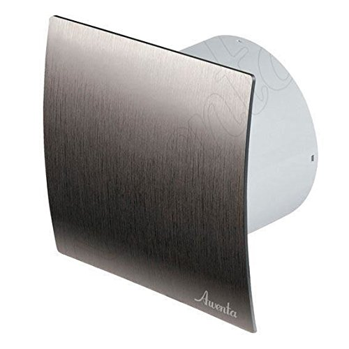 Bathroom Kitchen Toilet Wall Air Ventilation Extractor Fan with Timer 6' 150mm Silver Awenta