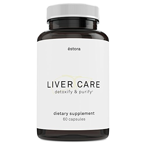 ÉSTORA Liver Care – Whole Food Liver Support Supplement with Milk Thistle & Turmeric for Detoxification & Renewal, 60 Vegetable Capsules For Sale