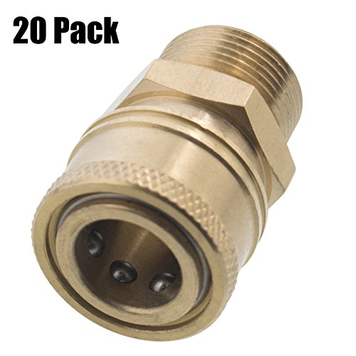 Erie Tools 20 Pressure Washer 3/8 Male NPT to M22 Quick Connect Socket Coupler 14 mm by Erie Tools