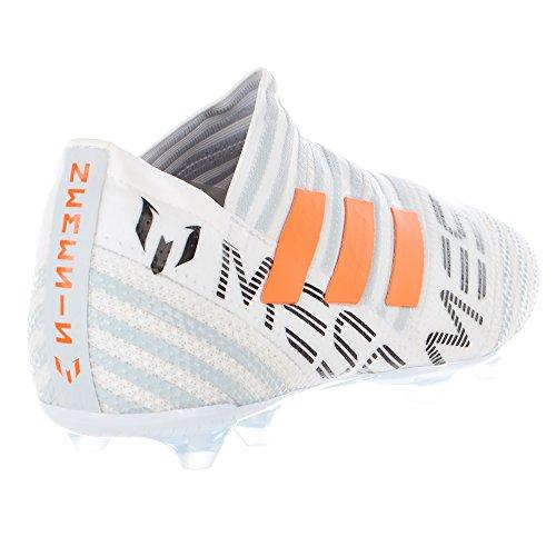 Adidas Kids Messi Nemeziz 17+ 360 Agility Fg Fotbollsskor Kör Vit Ftw / Varning / Klar