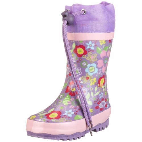 Playshoes Girls Flower Collection Rubber Rain Boots