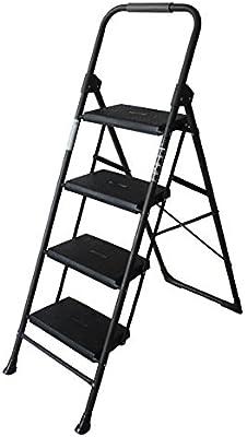 YuanYu Escalera de Acero Inoxidable para Taburete de Escalera para Adultos Sillas de Cocina abatible para escabel pequeña/Escalera de Tijera/Plataforma de Almacenamiento/Rack de Flores Escalera: Amazon.es: Hogar