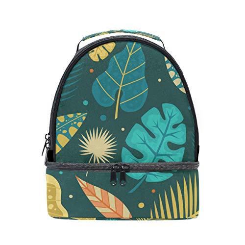 pincnic la de aislante diseño con FOLPPLY para hombro de para de hojas escuela ajustable correa Bolsa con almuerzo tropicales el Hqwqag