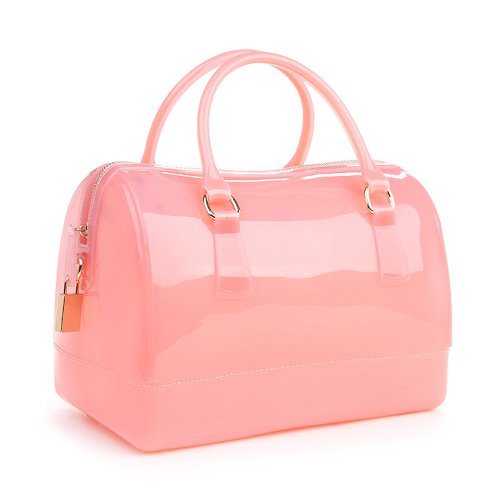 Hoxis Summer Glamorous Doctors Style Satchel Candy Hand Bag(PINK)