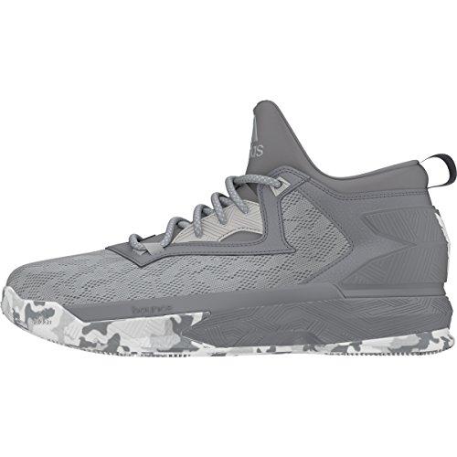 adidas D Lillard 2 Mens Basketball Shoe 8 Clear Onix/Grey/White