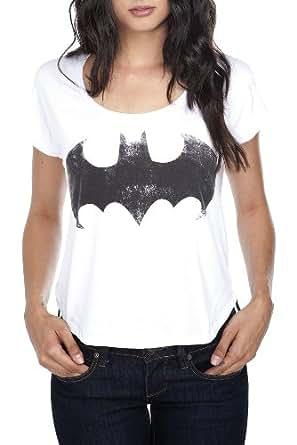DC Comics Distressed Batman Logo Crop Top Size : X-Small
