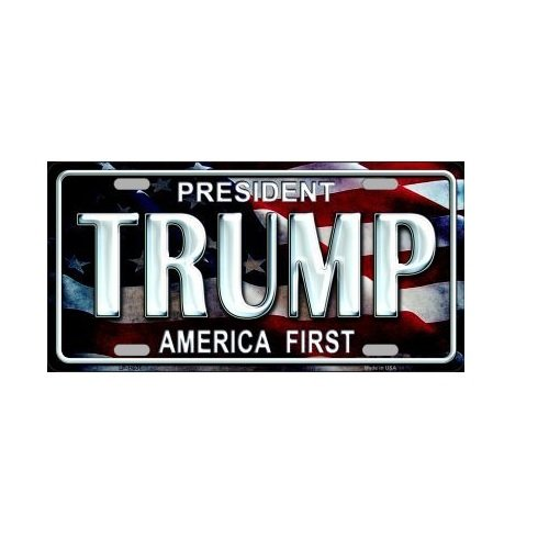 Nascar Gift Tags (President Trump America First Novelty License Plate Tag Sign)